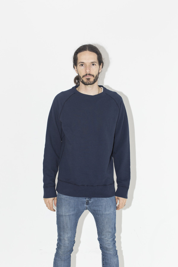 Men's Velva Sheen Navy Crew Sweat