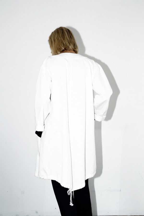Assembly White Denim No Hood Parka