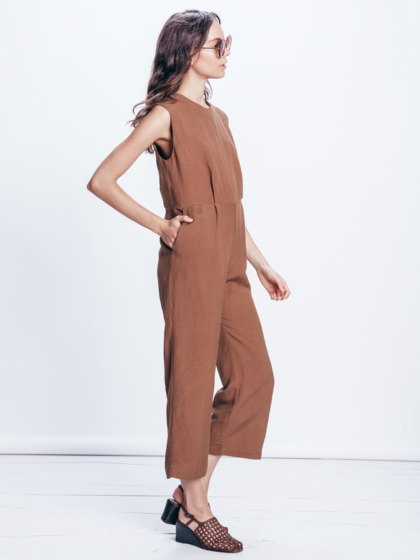 FIRST RITE WIDE CROP JUMPSUIT