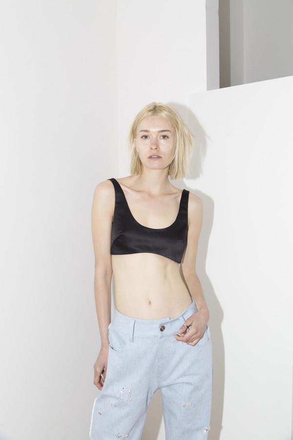 Sandy Liang Black Franny Top