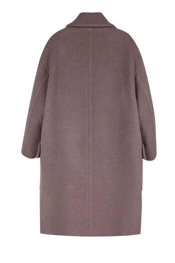 ANDERSSON BELL Alice Oversized Double Breasted Coat- Pink Melange