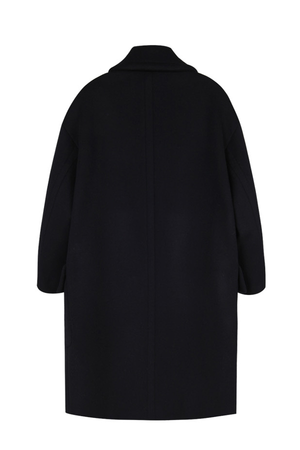 ANDERSSON BELL Alice Oversized Double Breasted Coat- Black