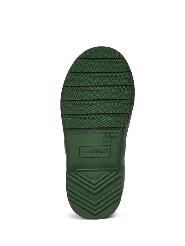 Hunter Original Packable Tour Kids Rain Boots - Green
