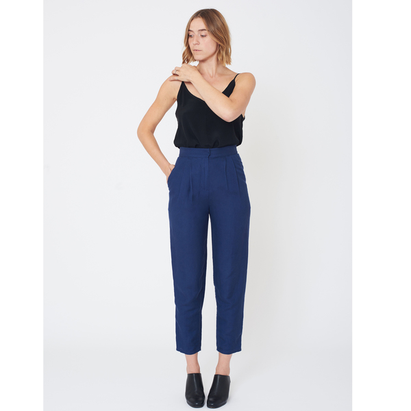 First Rite High Rise Trouser | Lapis