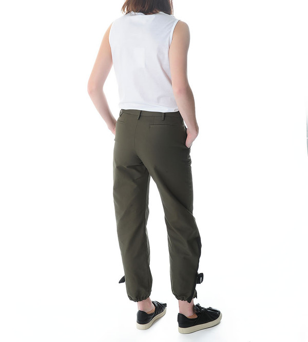 Ports 1961 Retro Green Wide Trousers with Zip