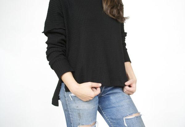 LNA Oversized Turtleneck Sweater