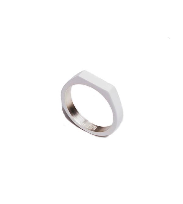 Ming Yu Wang Matte White Theorem Ring