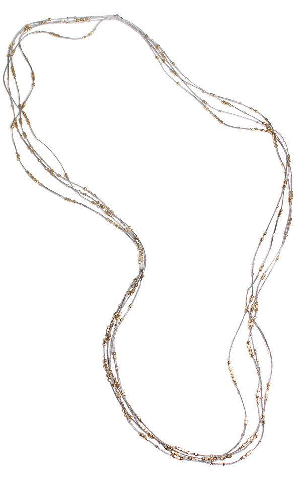 Serefina Glistening Four Strands Necklace Slate