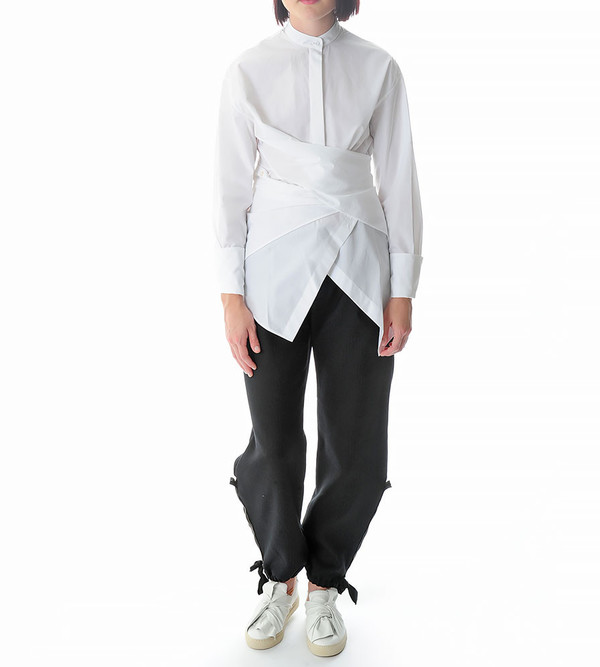 Ports 1961 White Blouse with Flap Detail