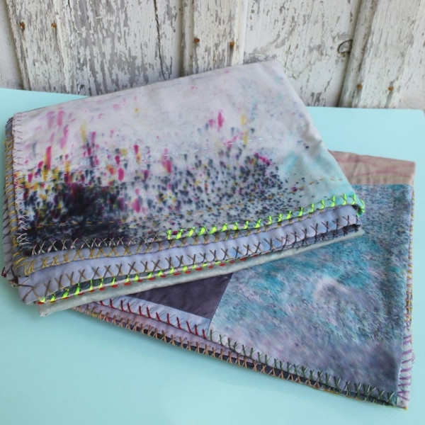 Kid's Hand Dyed Patchwork Baby Blanket