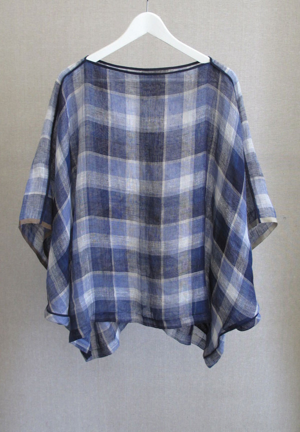 Two Linen Dolman Top