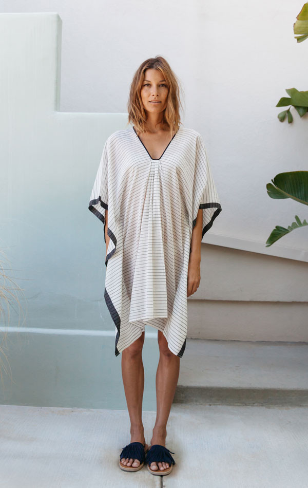 Two Microstripe Caftan