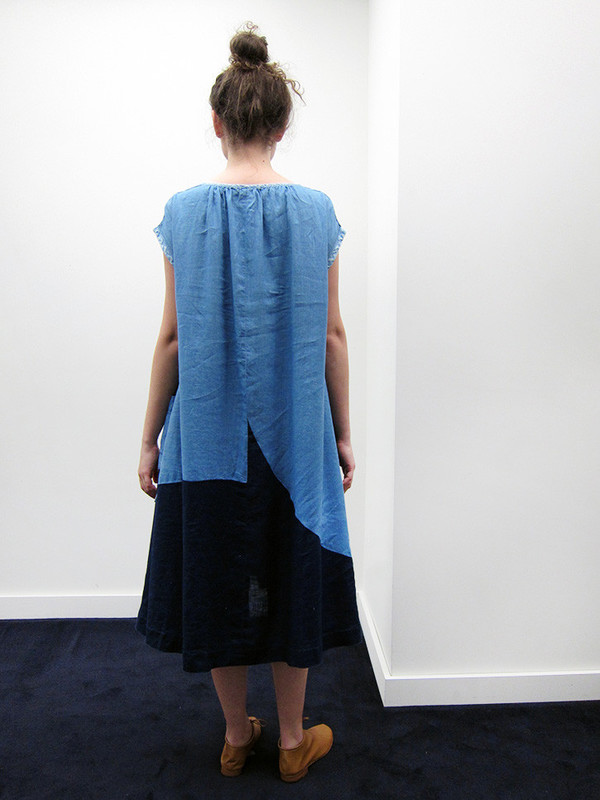 Kapital French Cloth Linen Patchwork Dress
