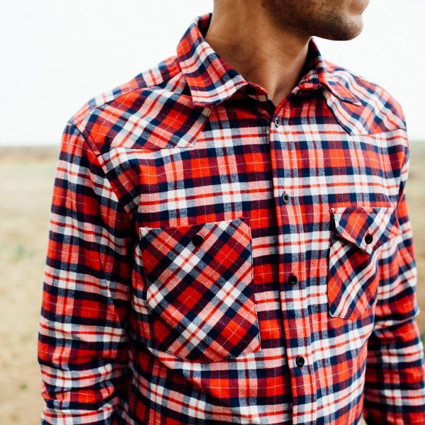 Men's Topo Flannel Plaid Work Shirt