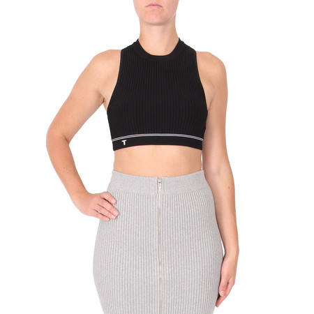 T by Alexander Wang Black Rib Crop Top