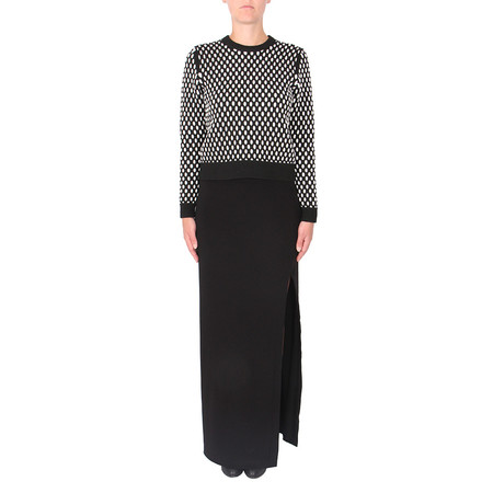 T By Alexander Wang Cropped Cable Knit Pullover