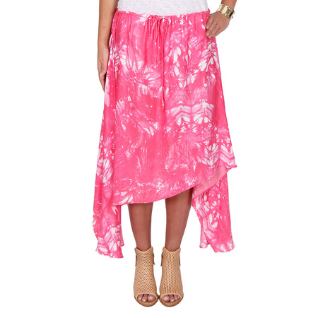 LOVESHACK Fancy Drawstring Silk Skirt
