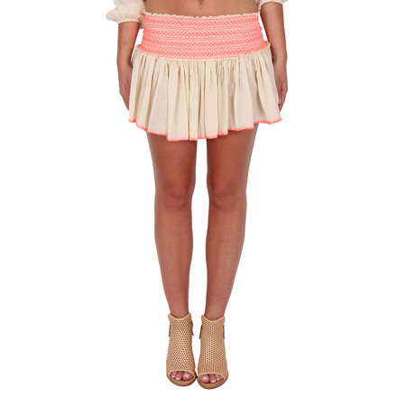 LOVESHACKFANCY Embroidered Beach Mini