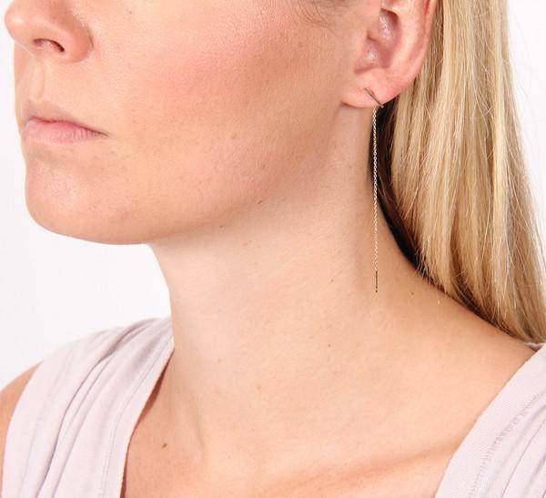 Kathleen Whitaker Staple and Chain Earring