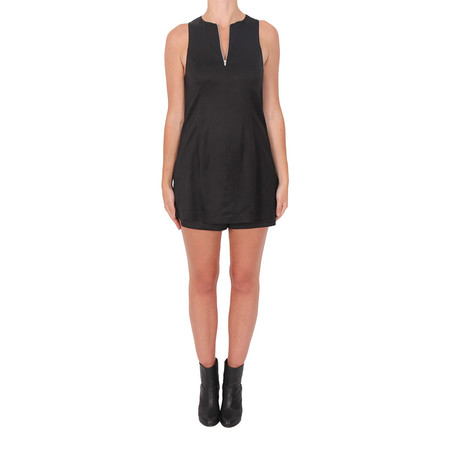 T By Alexander Wang Stretch Twill Sleeveless Romper