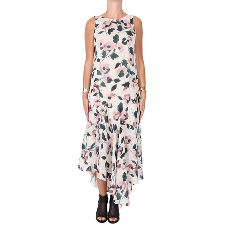 Suno Floral Print Silk Dress