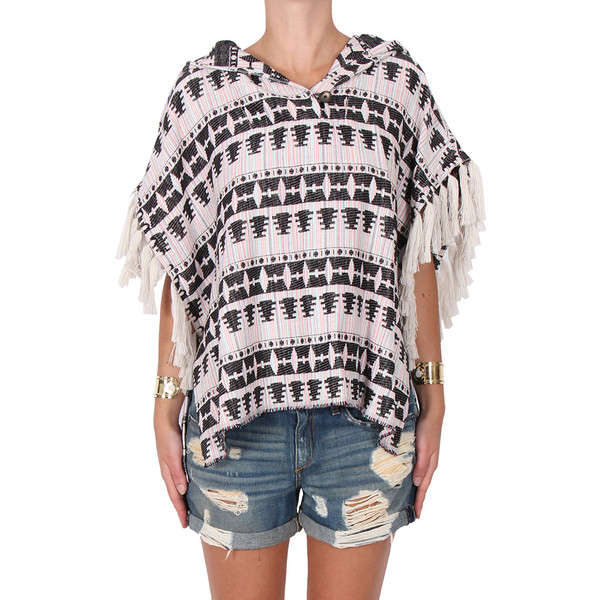 Thakoon Addition Fringe Baja Top
