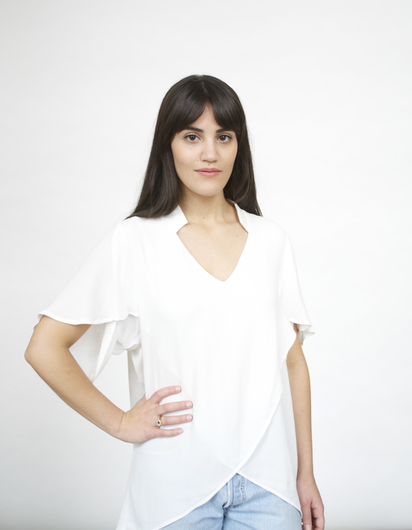Fifteen Twenty  Envelope Sleeve Top
