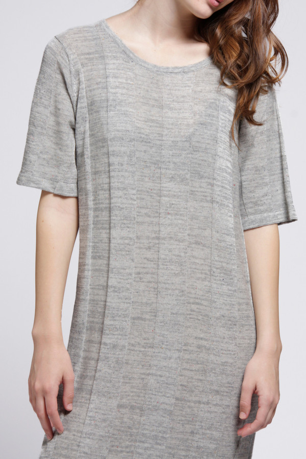 Micaela Greg Grey Ladder Tee Dress
