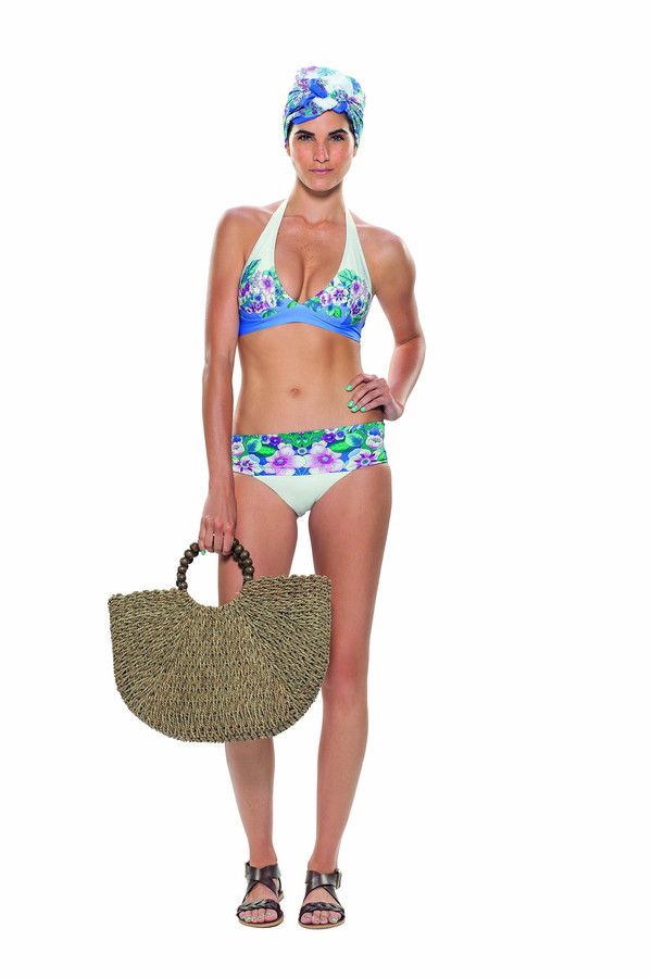 Estivo Blue Florals Two Piece Bottoms