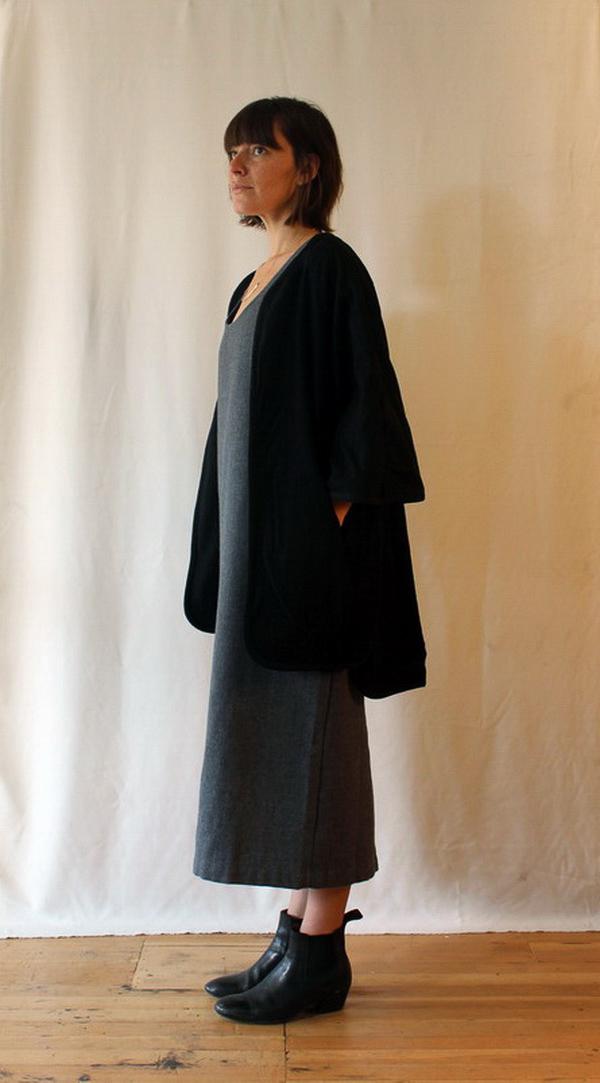 Black Crane Tank Dress