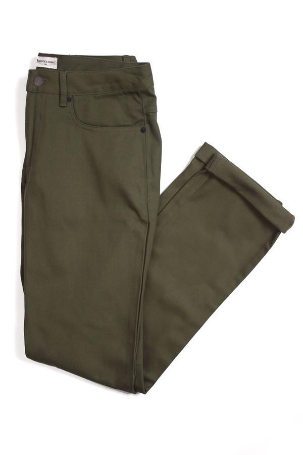 Men's Bridge & Burn Polk Olive Jeans