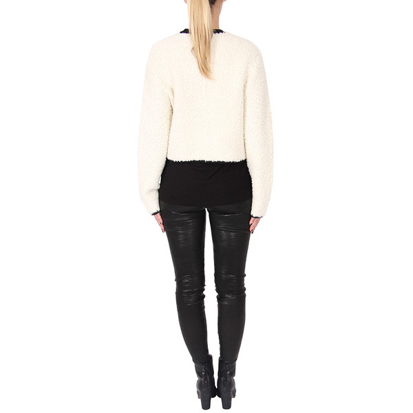 T By Alexander Wang Chunky Fleece Cropped Pullover