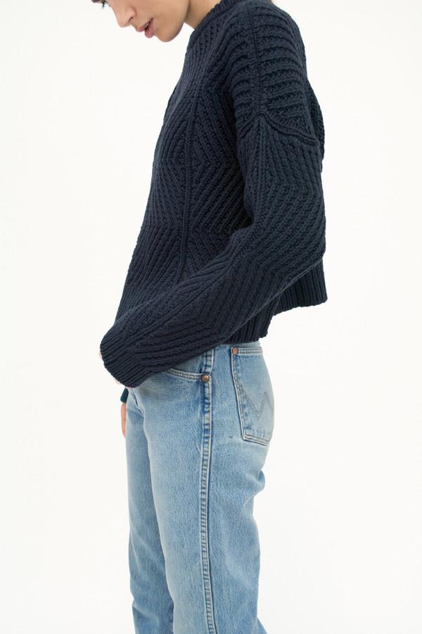 Blue Black Bevel Sweater