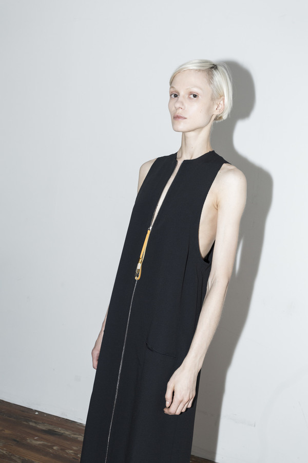 C.F. Goldman Black Zip Vest Dress