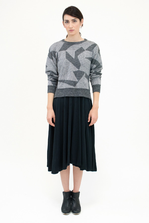 Micaela Greg Grey Spectrum Sweater