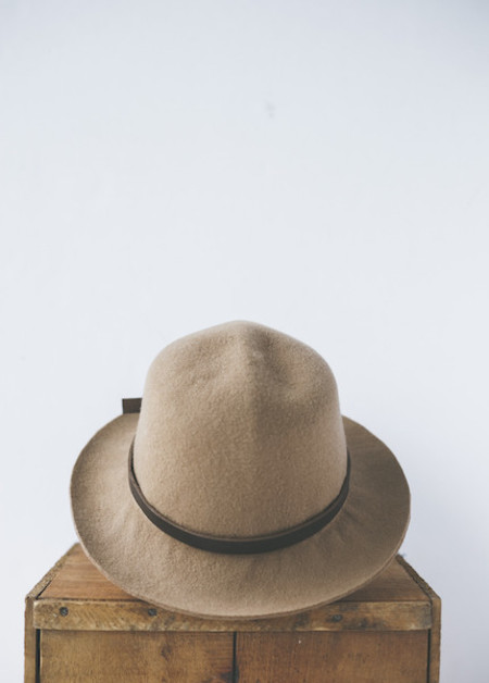 Brookes Boswell Millinery Optimo in Camel Wool Felt