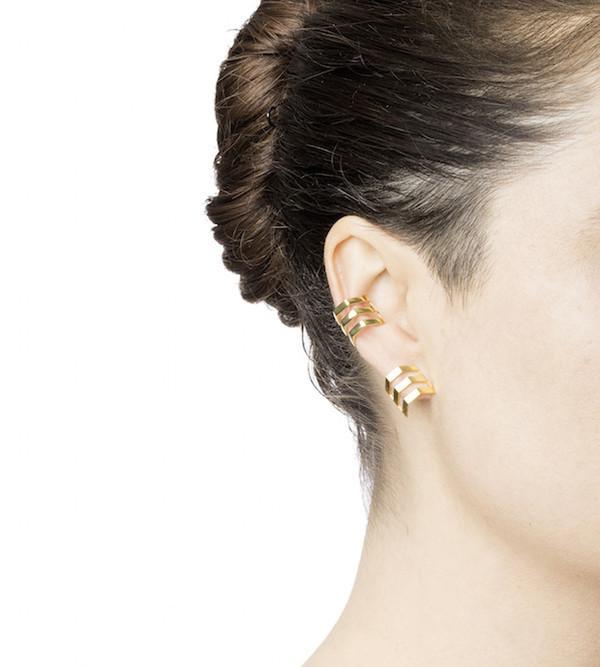 Maria Black Black Trinity Ear Cuff