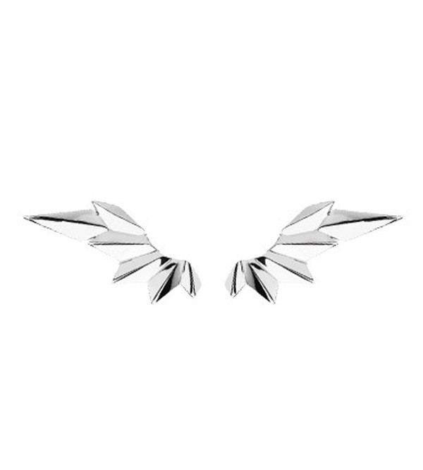 Maria Black Silver Wing Earring with Reverse Earring