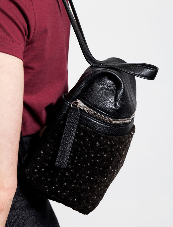 Kara Small Shearling Backpack Speckled