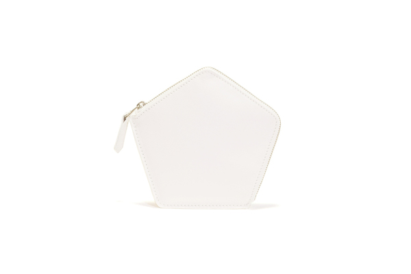 Nº22 Penta Wallet in White and Platinum