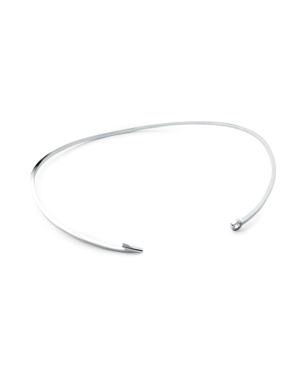Miansai Thin Silver Fish Hook Necklace