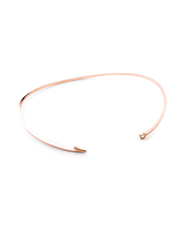 Miansai Thin Rose Gold Fish Hook Necklace