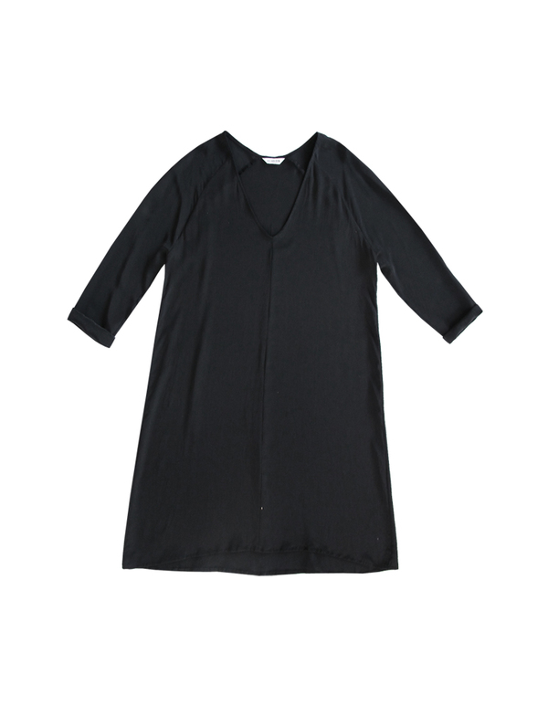 ALI GOLDEN RAGLAN DRESS - BLACK