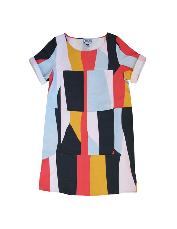 Dusen Dusen SUPER CHECK DRESS - SWATCH