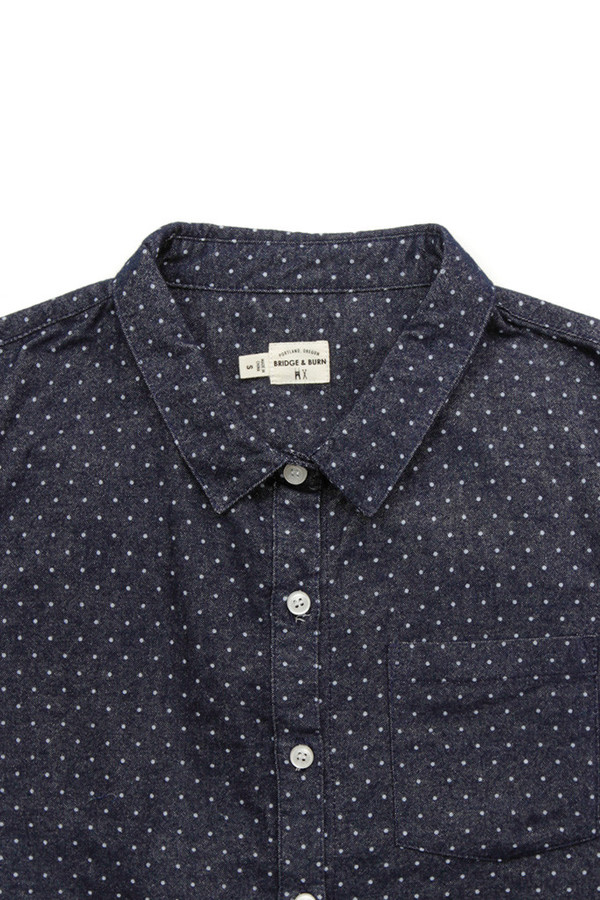 Bridge & Burn Bea Navy Polka Dot