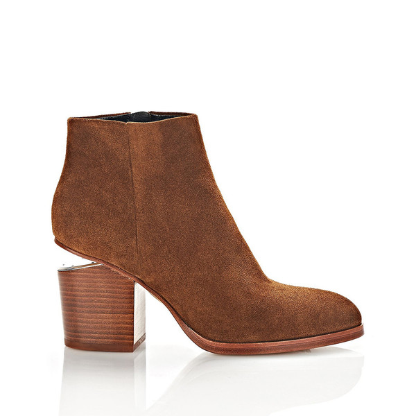 T By Alexander Wang GABI SUEDE BOOTIE WITH RHODIUM