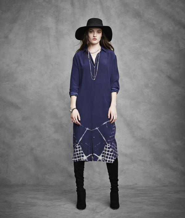 Laura Siegel Multi-Clamp Silk Sleeveless Long Blouse