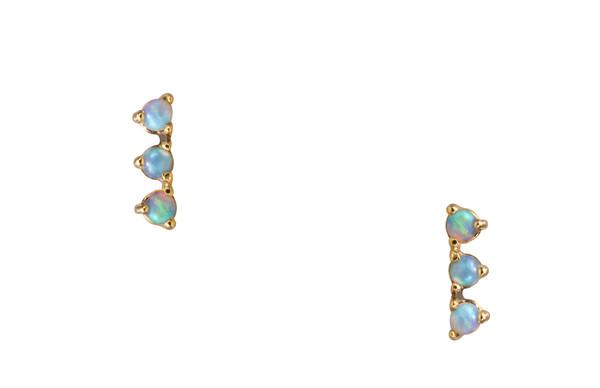 WWAKE Three Step Opal Earring