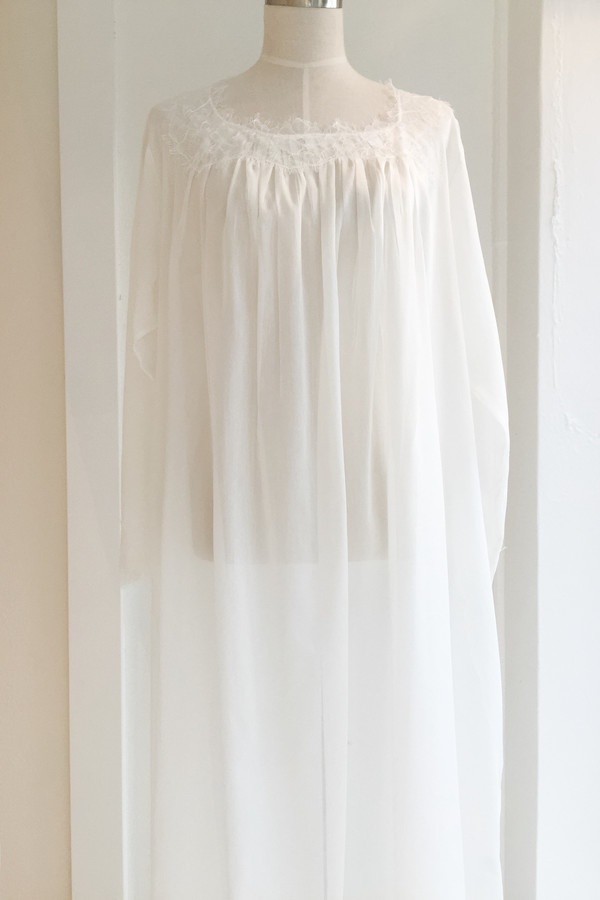 Salua Gardenia Gown in Cotton/Silk