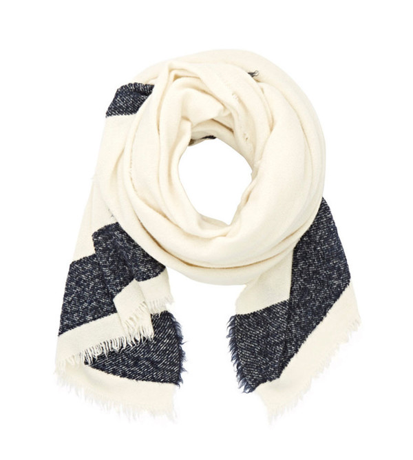 destin Cream and Navy Haze Mega Scarf
